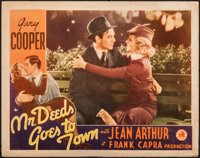 "Mr. Deeds Goes to Town (Columbia, 1936). Fine+. Lobby Card (11"" X 14""). Comedy"