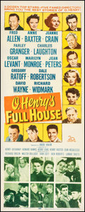 "Movie Posters:Drama, O. Henry's Full House (20th Century Fox, 1952). Fine on Paper. Insert (14"" X 36""). Drama.. ..."
