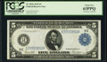 Fr. 863a $5 1914 Federal Reserve Note PCGS Choice New 63PPQ