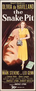 "Movie Posters:Drama, The Snake Pit (20th Century Fox, 1948). Rolled, Very Fine-. Insert (14"" X 36""). Drama.. ..."