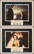 """Movie Posters:Hitchcock, Strangers on a Train (Warner Bros., 1951). Fine/Very Fine. Lobby Cards (2) (11"""" X 14""""). Hitchcock.. ... (Total: 2 I..."""