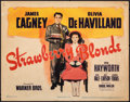 "Movie Posters:Comedy, The Strawberry Blonde (Warner Bros., 1941). Fine+. Title Lobby Card (11"" X 14""). Comedy.. ..."