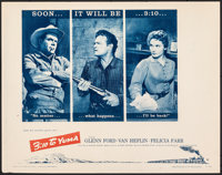 "3:10 to Yuma (Columbia, 1957). Folded, Very Fine-. Half Sheet (22"" X 28"") Style B. Western"