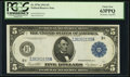 Large Size:Federal Reserve Notes, Fr. 879a $5 1914 Federal Reserve Note PCGS Choice New 63PPQ.. ...