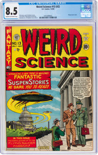 Weird Science #13 (#2) (EC, 1950) CGC VF+ 8.5 Cream to off-white pages