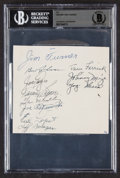 Autographs:Index Cards, 1950 New York Yankees Multi-Signed Cut Signature, BAS Authentic (11 Signatures)....