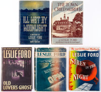 Leslie Ford. Group of Five First Editions. New York: Farrar & Rinehart [and:] Charles Scribner's Sons, [1937]-1943
