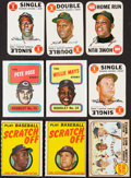 """Baseball Cards:Sets, 1968 Topps Game, 1970 Topps Team Scratch-Off & 1970 Topps Booklet Complete Sets Trio (3) Plus 1968 Topps """"Superstars"""" Card. ..."""