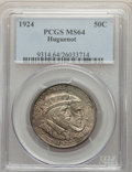 1924 50C Huguenot MS64 PCGS. PCGS Population: (1700/1561). NGC Census: (1446/1423). CDN: $125 Whsle. Bid for problem-fre...