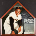Baseball Collectibles:Others, 2001 Willie Mays Signed & Inscribed Original Artwork Home Plate....