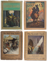 [N. C. Wyeth]. Group of Eight Books Illustrated by N. C. Wyeth, comprising: Paul Creswick. Robin Hood.<