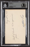 Autographs:Post Cards, 1948 Satchel Paige Signed Government Postcard, BAS Authentic....