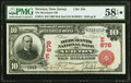 Newton, NJ - $10 1902 Red Seal Fr. 613 The Merchants National Bank Ch. # (E)876 PMG Choice About Unc 58