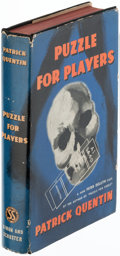 Books:Mystery & Detective Fiction, Patrick Quentin. Puzzle for Players. New York: Simon and Schuster, 1938. First edition....