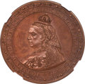 Great Britain: Victoria copper Proof Pattern Crown 1887 PR66+ Brown NGC