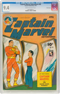 Golden Age (1938-1955):Superhero, Captain Marvel Adventures #45 Crowley Copy Pedigree (Fawcett Publications, 1945) CGC NM 9.4 Cream to off-white pages....