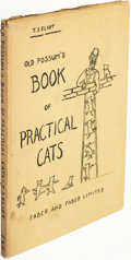 Books:Children's Books, T. S. Eliot. Old Possum's Book of Practical Cats. London: Faber and Faber Limited, [1939]. First edition....