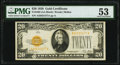 Small Size:Gold Certificates, Fr. 2402 $20 1928 Gold Certificate. PMG About Uncirculated 53.. ...