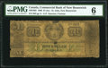 World Currency, Canada St. John, NB- Commercial Bank of New Brunswick $1 (5 Shillings) 1.11.1860 Ch.# 180-16-02 PMG Good 6.. ...