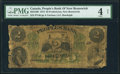 World Currency, Canada Fredericton, NB- Peoples Bank of New Brunswick $2 2.1.1874 Ch.# 585-12-06 PMG Good 4 Net.. ...