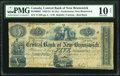 World Currency, Canada Fredericton, NB- Central Bank of New Brunswick $1 (5 Shillings) 1.10.1854 Ch.# 95-10-06-02 PMG Very Good 10 Net....