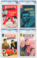 Silver Age (1956-1969):Adventure, Mission: Impossible #1-4 CGC-Graded Near-Complete Series Group (Dell, 1967-68).... (Total: 4 Items)