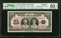 World Currency, Canada Bank of Canada $25 5.6.1935 BC-11 Commemorative PMG Choice Uncirculated 63 EPQ.. ...