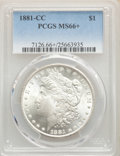1881-CC $1 MS66+ PCGS. PCGS Population: (1655/274 and 304/21+). NGC Census: (769/145 and 58/6+). CDN: $1,025 Whsle. Bid...