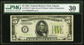Small Size:Federal Reserve Notes, Fr. 1955-F* $5 1934 Light Green Seal Federal Reserve Note. PMG Very Fine 30.. ...