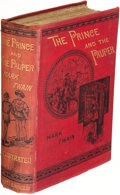 Books:Literature Pre-1900, Mark Twain. The Prince and the Pauper. London: Chatto & Windus, 1881. The true first edition.. ...