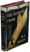 Books:Mystery & Detective Fiction, H. C. Bailey. The Bishop's Crime. New York: The Crime Club, Inc., 1941. First American edition.. ...