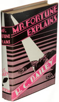 Books:Mystery & Detective Fiction, H. C. Bailey. Mr. Fortune Explains. New York: E. P. Dutton & Co., [1931]. First American edition.. ...