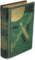 Books:Science Fiction & Fantasy, Jules Verne. From the Earth to the Moon. New York: Scribner, Armstrong & Company, 1874. First American edition.. ...