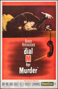 """Movie Posters:Hitchcock, Dial M for Murder (Warner Bros., 1954). Fine on Linen. Trimmed One Sheet (25.75"""" X 39.25""""). Hitchcock.. ..."""