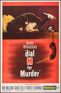 "Dial M for Murder (Warner Bros., 1954). Fine on Linen. Trimmed One Sheet (25.75"" X 39.25""). Hitchcock"