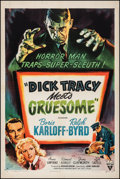 """Movie Posters:Crime, Dick Tracy Meets Gruesome (RKO, 1947). Very Fine- on Linen. One Sheet (27.5"""" X 41""""). Crime.. ..."""