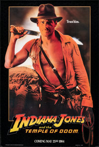 """Indiana Jones and the Temple of Doom (Paramount, 1984). Rolled, Very Fine+. One Sheet (26.75"""" X 40"""") Advance..."""