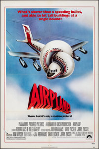 "Airplane! & Other Lot (Paramount, 1980). Folded, Fine+. One Sheets (2) (27"" X 41""). Robert Grossman Ar..."
