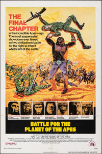 """Battle for the Planet of the Apes (20th Century Fox, 1973). Folded, Very Fine-. One Sheet (27"""" X 41""""). Robert..."""