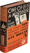 Books:Mystery & Detective Fiction, Alan Le May. One of Us Is a Murderer. New York: The Crime Club, Inc., [1930]. First edition.. ...