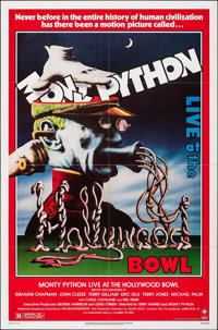 "Monty Python Live at the Hollywood Bowl (Columbia, 1982). Folded, Very Fine+. One Sheet (27"" X 41""). Comedy..."