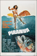 "Movie Posters:Horror, Piranha (New World, 1978). Folded, Very Fine-. One Sheet (27"" X 41""). John Solie Artwork. Horror.. ..."