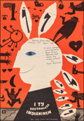"""Movie Posters:Foreign, And You Will Become an Indian (CWF, 1962). Very Fine- on Chartex. Polish Poster (22.5"""" X 32.5"""") Bohdan Butenko Arwork. Forei..."""