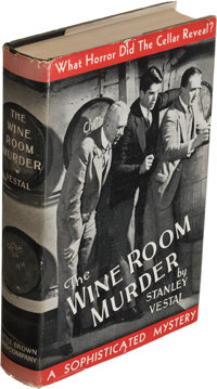 Stanley Vestal. The Wine Room Murder. Boston: Little, Brown, and Company, 1935. First edition