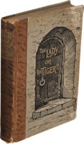 Books:Mystery & Detective Fiction, Frank R. Stockton. The Lady, or the Tiger? and Other Stories. New York: Charles Scribner's Sons, 1884. First edition....