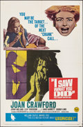 """Movie Posters:Horror, I Saw What You Did & Other Lot (Universal, 1965). Folded, Overall: Fine/Very Fine. One Sheets (3) (27"""" X 41""""). Horror.. ... (Total: 3 Items)"""