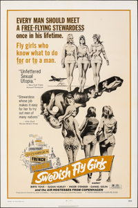 """Swedish Fly Girls & Other Lot (Trans American, 1972). Folded, Fine/Very Fine. One Sheets (3) (27"""" X 41""""..."""