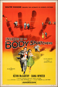 "Invasion of the Body Snatchers (Allied Artists, 1956). Folded, Fine+. One Sheet (27"" X 41""). Science Fiction..."