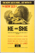 "Movie Posters:Adult, He and She & Other Lot (Aquarius Releasing, 1970). Folded, Very Fine-. One Sheets (2) (28"" X 42"" & 28"" X 41""). Adult.. ... (Total: 2 Items)"