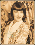 "Movie Posters:Miscellaneous, Colleen Moore (c.1930s). Fine/Very Fine. Autographed Oversize Portrait Photo (11"" X 14""). Miscellaneous.. ..."